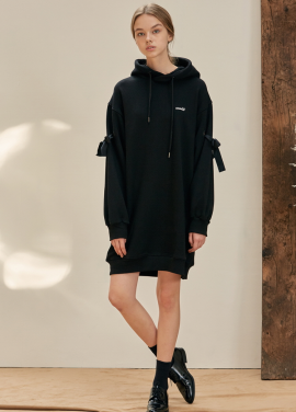 [ANEDIT/17FW/5%+5%COUPON]B EYELET HOOD DRESS_BK