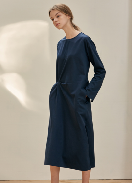 [ANEDIT/17FW/5%+5%COUPON]B TWO TUCK DRESS_DN