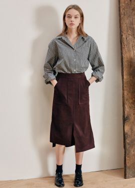 [ANEDIT/17FW/5%+5%COUPON]B SUEDE SLIT SKIRT_WN