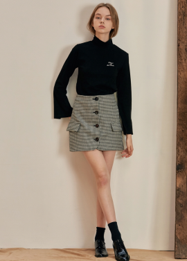 [ANEDIT/17FW/5%+5%COUPON]B HOUND TOOTH MINI SKIRT_DG