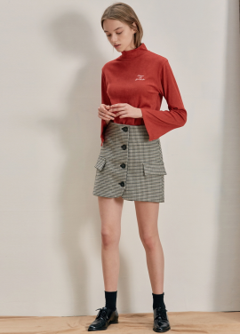 [ANEDIT/17FW/5%+5%COUPON]B HOUND TOOTH MINI SKIRT_BR