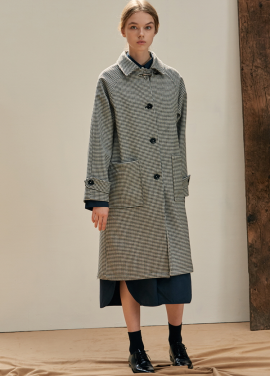 [ANEDIT/17FW/5%+5%COUPON]B HOUND TOOTH COAT_DG