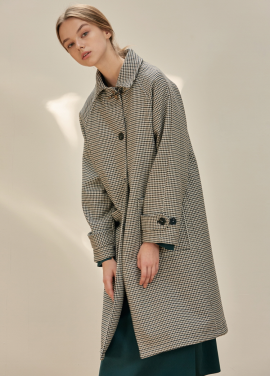 [ANEDIT/17FW/5%+5%COUPON]B HOUND TOOTH COAT_BR
