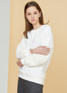 [MILLOGLEM/17FW신상/10%+5%COUPON] barni sweatshirts - ivory