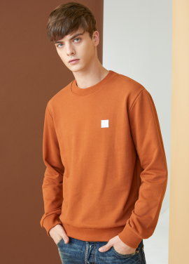 [MILLOGLEM/17FW신상/10%+5%COUPON] initials sweatshirts - orange