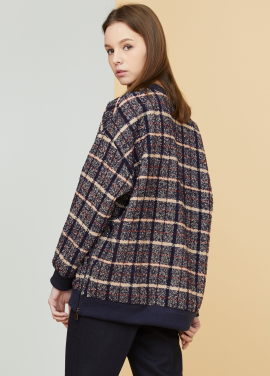 [MILLOGLEM/17FW신상/10%+5%COUPON] oversized plaid sweatshirts - beige