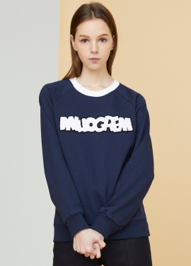 [MILLOGLEM/17FW신상/10%+5%COUPON] logo patch sweatshirts - navy