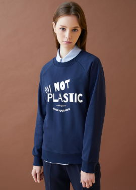 [MILLOGLEM/17FW신상/10%+5%COUPON] i'm not plastic sweatshirts - navy