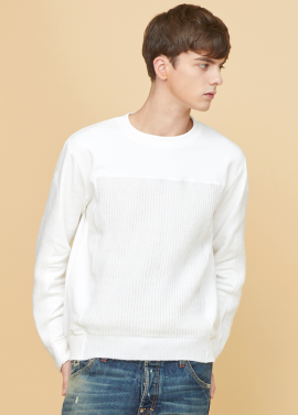 [MILLOGLEM/17FW신상/10%+5%COUPON] voll knit sweatshirts - white