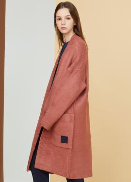 [MILLOGLEM/17FW신상/10%+5%COUPON] snuggle long cardigan - pink