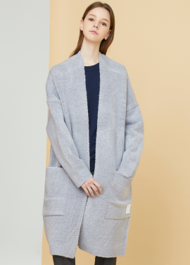 [MILLOGLEM/17FW신상/10%+5%COUPON] snuggle long cardigan - gray