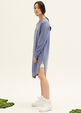 E-BAND POINT OBLIQUE LINE SWEATDRESS(BL)