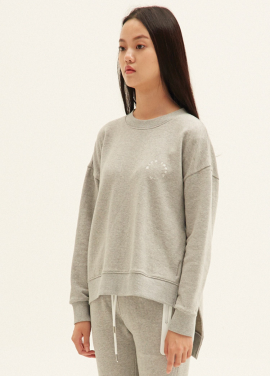 E-BAND POINT OBLIQUE LINE SWEATSHIRTS(MG)