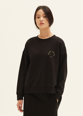 E-BAND POINT OBLIQUE LINE SWEATSHIRTS(BK)