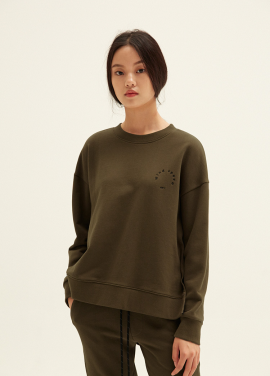 E-BAND POINT OBLIQUE LINE SWEATSHIRTS(KH)