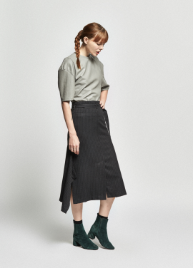 [URAGO/OCTOVER신상/5%+5%COUPON]herringbone wing skirt