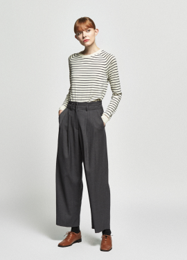 [URAGO/OCTOVER신상/5%+5%COUPON]cashwool stripe round knit