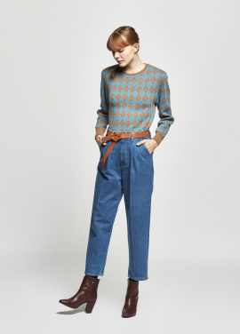 [URAGO/OCTOVER신상/5%+5%COUPON]argyle point shoulder knit