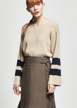 [URAGO/OCTOVER신상/5%+5%COUPON]wide leg point knit