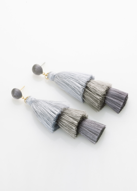 [TATIANA/17FW/10%+5%COUPON]BELITA TASSEL GRADATION EARRING