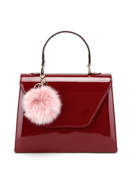 Pop pompom Handbag_M WINE