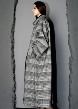 [WORKWEAR/17FW/5%+5%COUPON] WW CHECK-MAXI-TRENCH-COAT-GRAY