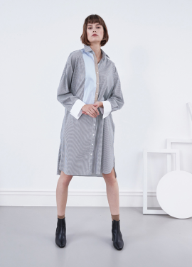 [YouNess] Collage Shirtdress