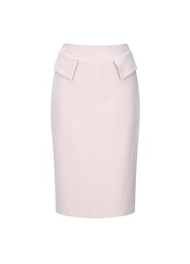 Wool Blended Flap Skirt