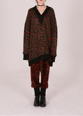 [50%할인/GENUIN VERK] Leopard printed knit [KHAKI]