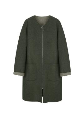 Handmade Oversized Zip-Up Coat