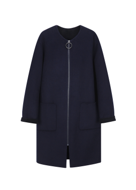 [단독30%] ★ Handmade Oversized Zip-Up Coat