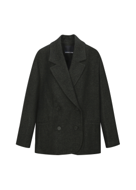 Wool Blend Loose-Fit Jacket