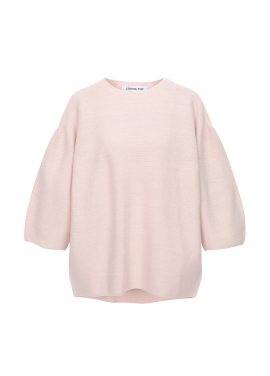 Balloon Sleeve Soft Pullover
