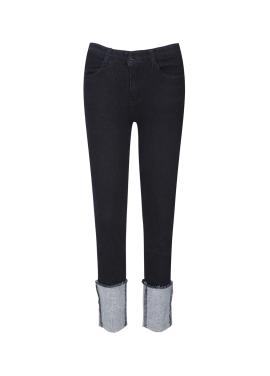 Hemline Roll Up Jeans