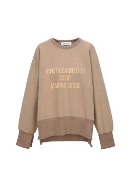 Loose Fit Slit Detail Sweatshirts