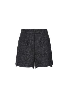 Wool Blend Big Pocket Short Pants