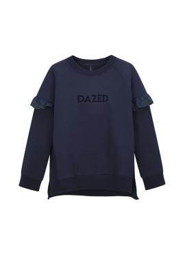 [단독55%할인] Sleeve Check Ruffle Detail Sweatshirts