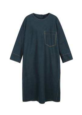 Stitch Detail Loose-Fit Dress