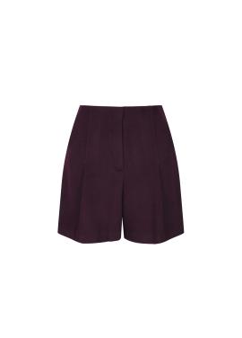 Highwaist Wool Blend Short Pants