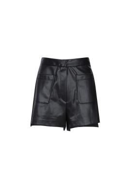 Big Pocket Leather Short Pants