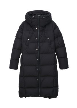 High Neck Hooded Duckdown Long Padding