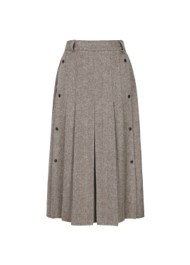 ★ Herringbone Pleats Long Skirt [주문폭주/리오더진행]