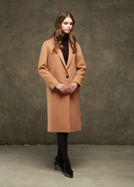 [TINA BLOSSOM/20%+5%COUPON] HANDMADE LONG & LIN WOOL COAT