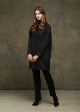 [TINA BLOSSOM/20%+5%COUPON] HANDMADE KNIT O'MA WOOL COAT