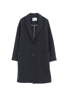 [THELOOM/인터뷰스토어단독가/50%SALE]WAVE WOOL SINGLE COAT[D.BLUE]