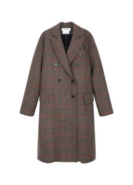 [추가30%] ★ Wool Blend Classic Check Long Coat