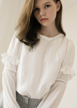 [Sorry, Too Much Love/입점기념/10%+5%] chiffon combo satin blouse