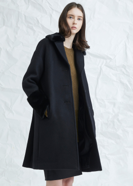 [MILLOGLEM/17WINTER/7%SALE] pida single coat - black
