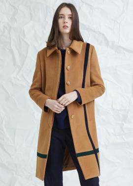 [MILLOGLEM/연말결산세일/30%] crossed color mac coat - beige