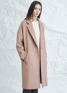 [MILLOGLEM/연말결산세일/30%] muted pink snap coat - pink